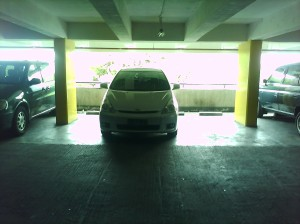 i wonder about the driver. whether he/she selfish, or can't park his/her car -___-a